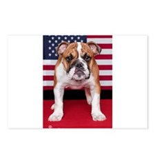 All American Bulldog Postcards (Package of 8)