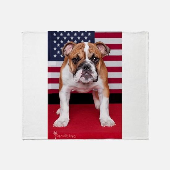 All American Bulldog Throw Blanket