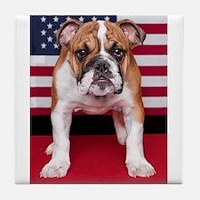 All American Bulldog Tile Coaster