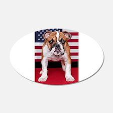 All American Bulldog Wall Decal
