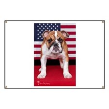 All American Bulldog Banner