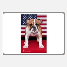 All American Bulldog Banner