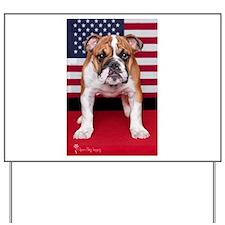 All American Bulldog Yard Sign