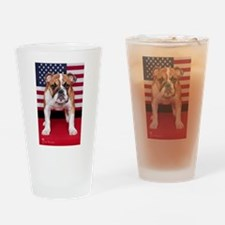 All American Bulldog Drinking Glass