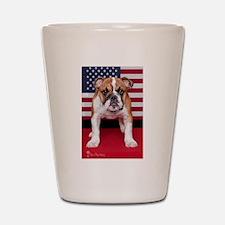 All American Bulldog Shot Glass