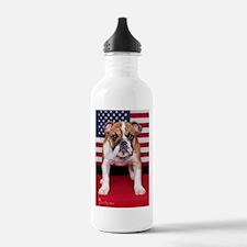 All American Bulldog Water Bottle