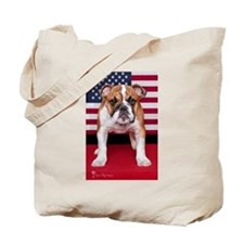 All American Bulldog Tote Bag