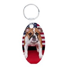 All American Bulldog Keychains