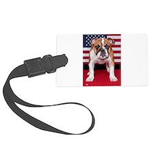 All American Bulldog Luggage Tag