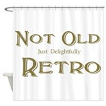 Delightfully Retro Shower Curtain