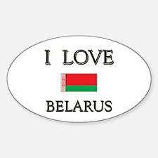 I Love Belarus Oval Decal