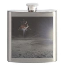 Apollo 11 Moon landing, computer artwork - Flask