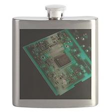Computer circuit board - Flask