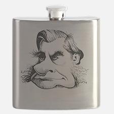 Thomas Huxley, caricature - Flask