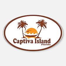 Captiva Island - Palm Trees Design. Decal