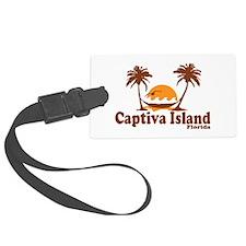Captiva Island - Palm Trees Design. Luggage Tag