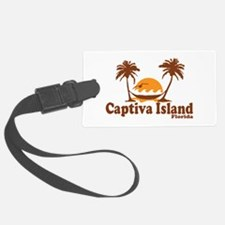 Captiva Island - Palm Trees Design. Luggage Tag