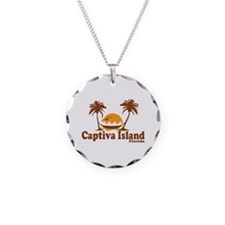 Captiva Island - Palm Trees Design. Necklace