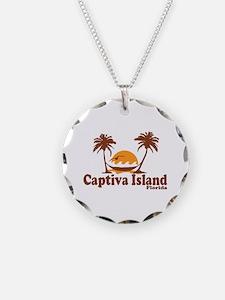 Captiva Island - Palm Trees Design. Necklace