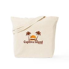 Captiva Island - Palm Trees Design. Tote Bag