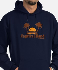 Captiva Island - Palm Trees Design. Hoodie (dark)