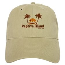 Baseball Captiva Island - Palm Trees Design. Baseball Cap