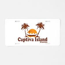 Captiva Island - Palm Trees Design. Aluminum Licen