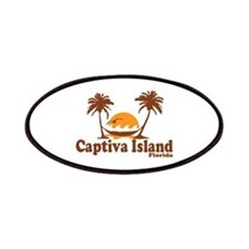 Captiva Island - Palm Trees Design. Patches