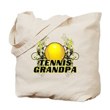 Tennis Grandpa (cross).png Tote Bag
