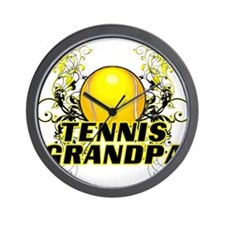 Tennis Grandpa (cross).png Wall Clock