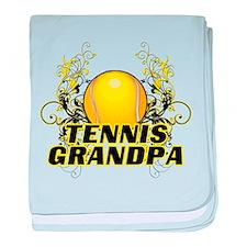Tennis Grandpa (cross).png baby blanket