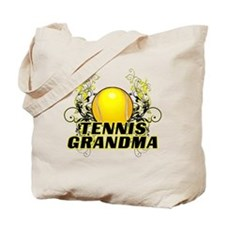 Tennis Grandma (cross).png Tote Bag