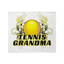 Tennis Grandma (cross).png Throw Blanket