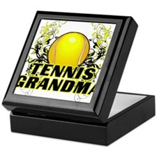 Tennis Grandma (cross).png Keepsake Box