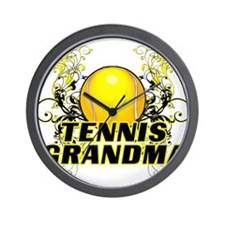 Tennis Grandma (cross).png Wall Clock