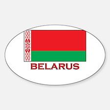 Belarus Flag Merchandise Oval Decal