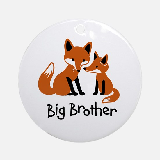 Big Brother - Mod Fox Ornament (Round)