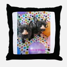Toots & Weezy Throw Pillow