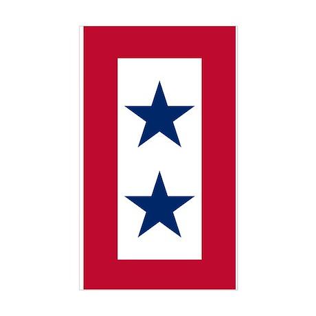 Blue Star Flag 2 Sticker (Rectangle)
