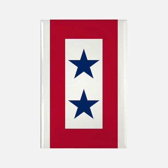 Blue Star Flag 2 Rectangle Magnet