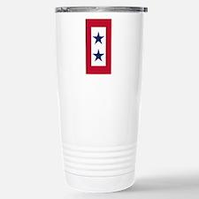 Blue Star Flag 2 Stainless Steel Travel Mug