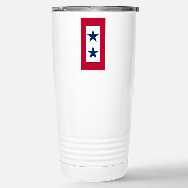 Blue Star Flag 2 Travel Mug