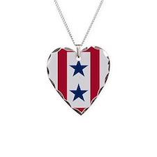 Blue Star Flag 2 Necklace