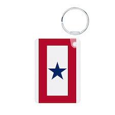 Blue Star Flag Keychains
