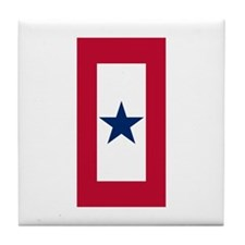Blue Star Flag Tile Coaster