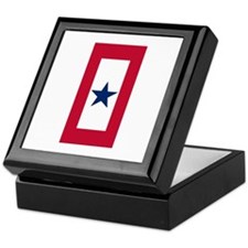 Blue Star Flag Keepsake Box