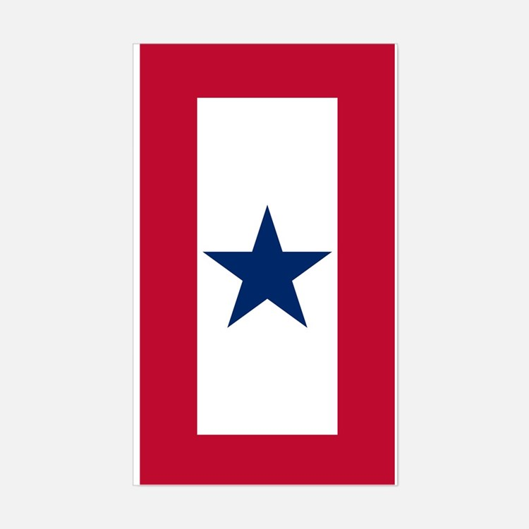 Blue Star Flag Decal