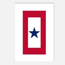 Blue Star Flag Postcards (Package of 8)