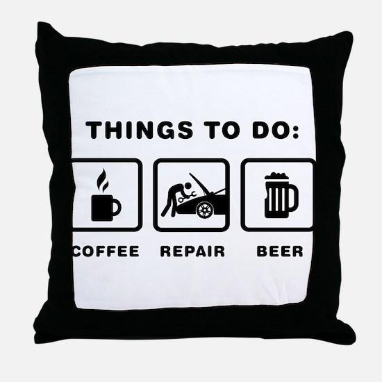 Mechanic Throw Pillow
