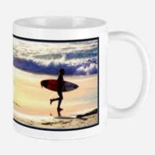 On the beach you can live in bliss Mug